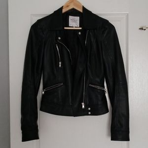 Zara faux leather biker jacket